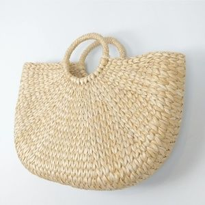 Straw Vintage Wicker Bamboo Tote Beach Bag